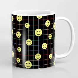 Colorful Smiley Emoji 4 - black Coffee Mug