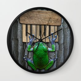 Songs Of The Tree Frog Wall Clock