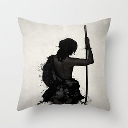Female Samurai - Onna Bugeisha Throw Pillow