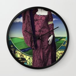 The lady of shallot by A.Harrison Wall Clock