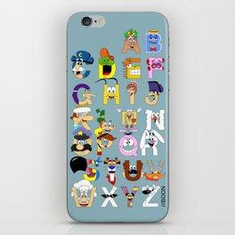 Breakfast Mascot Alphabet iPhone Skin