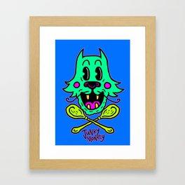 Junky Cat Framed Art Print