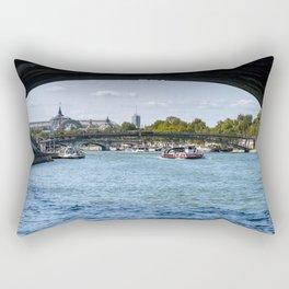 View from under the Pont Royal - Paris Rectangular Pillow