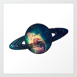 Saturn´s Space Art Print