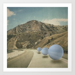 road work Art Print