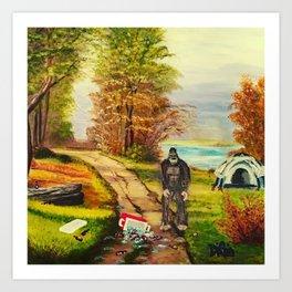 Sasquatch Camp Crasher Art Print