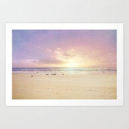 the beach is my happy place Art Print