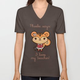 Phoebe the Know-all Squirrel Unisex V-Neck