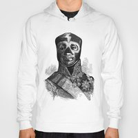 wrestling Hoodies featuring WRESTLING MASK 10 by DIVIDUS