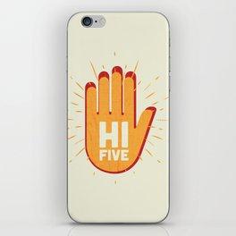 Hi five iPhone Skin