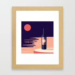 Moonlight + Wine Framed Art Print
