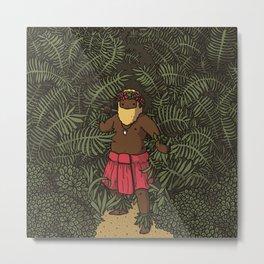 jungle beard man Metal Print