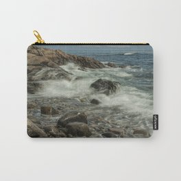 Waves Crashing against the Shore in Acadia National Park Maine Carry-All Pouch