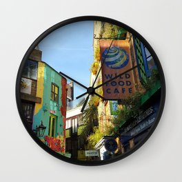 Cafes in an Alley Wall Clock
