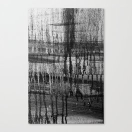 Grayscale Stains Canvas Print