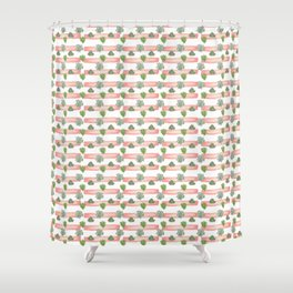 Succulent pattern Shower Curtain