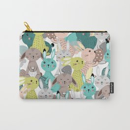 Easter rabbits pattern, sweet bunnies Carry-All Pouch