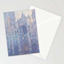 The Portal of Rouen Cathedral in Morning Light by Claude Monet Stationery Cards