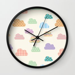 Colorful clouds Wall Clock