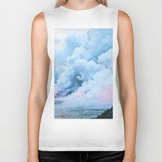Pastel volcano smoke Biker Tank