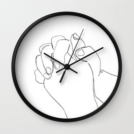 You Answered Me Line Art Wall Clock
