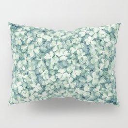 Clover shamrock leaf art, green leaves pattern Pillow Sham