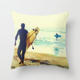 Looking Out to Shore Throw Pillow