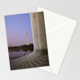 Washington DC at twilight Stationery Cards