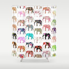 Floral Herd Shower Curtain