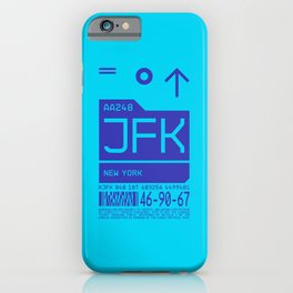 Baggage Tag C - JFK New York John F. Kennedy USA iPhone Case