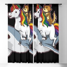 Shark Unicorn Cat - Awesome Friendship Blackout Curtain
