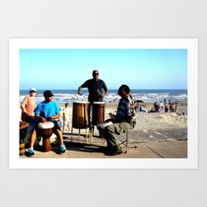 Drums on the Seawall Art Print