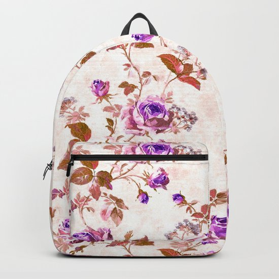 Purple Gold Roses Backpack