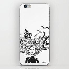 """ Sea Battle"" Hair iPhone Skin"