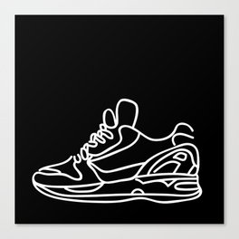Sneakers Outline #2 Canvas Print