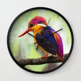 Bird Portrait: Oriental Dwarf Kingfisher Wall Clock
