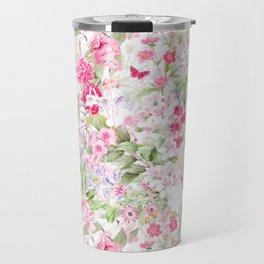 Vintage & Shabby Chic - Pastel Spring Flower Medow Travel Mug