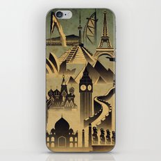 Around the world iPhone & iPod Skin