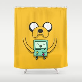 Jake and BMO Shower Curtain