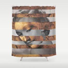 """Leonardo's """"Head of a Woman"""" & Marylin Monroe Shower Curtain"""
