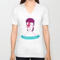 aladdin V-neck T-shirts featuring Aladdin Sane by Paula García