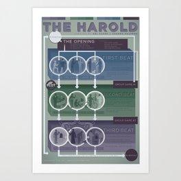 Improv Forms: The Harold (cool tones) Art Print