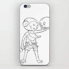 Monkey Pirate - ink iPhone Skin