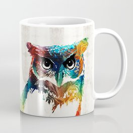 Colorful Owl Art - Wise Guy - By Sharon Cummings Coffee Mug