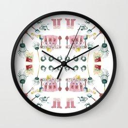 A Garden Plan Wall Clock