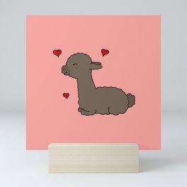 "Alpaca ""Rosalie"" Mini Art Print"