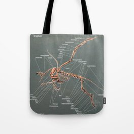 Gryphon Skeleton Anatomy Tote Bag