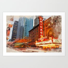 Chicago Panorama Art Print