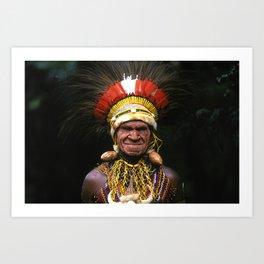 Papua New Guinea Chief's Headdress Art Print