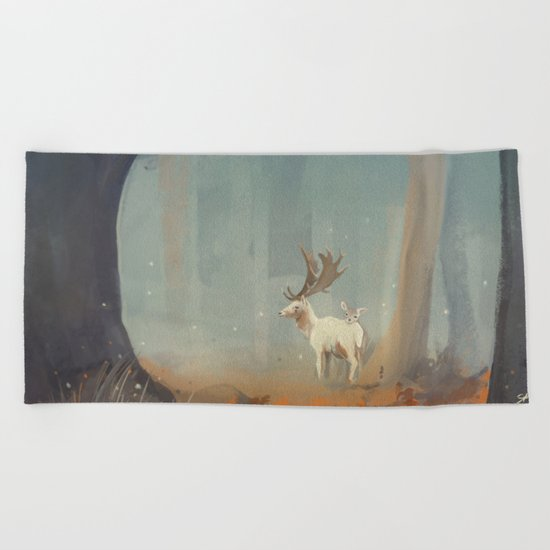 Deer Beach Towel